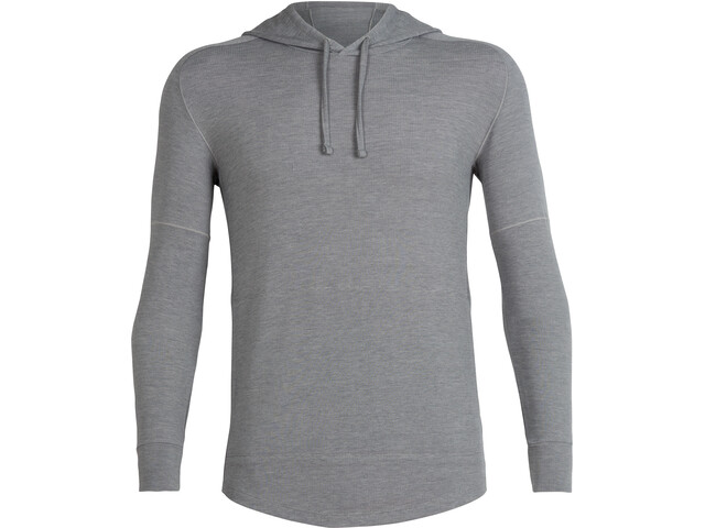 Icebreaker Momentum Sweat manches longues à capuche Homme, fossil/snow heather